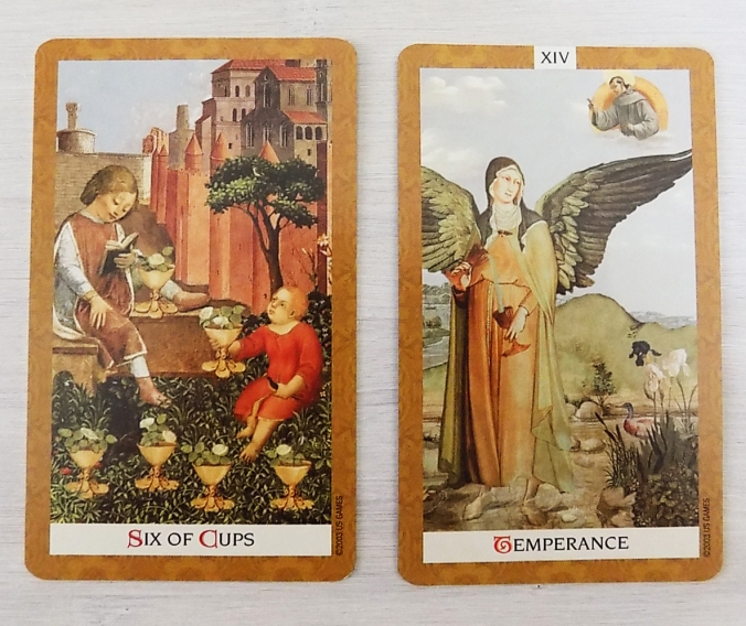 Six of Cups and Temperance